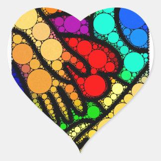 Modern Abstract Graffiti Hands & Heart Art Heart Sticker