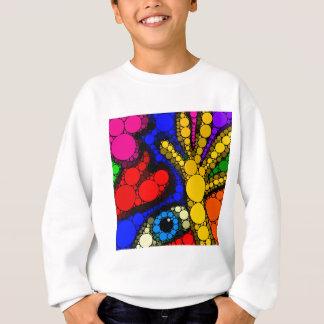 Modern Abstract Graffiti Hands Heart & Eye Sweatshirt