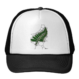 Modern Abstract Green Leaf Trucker Hat