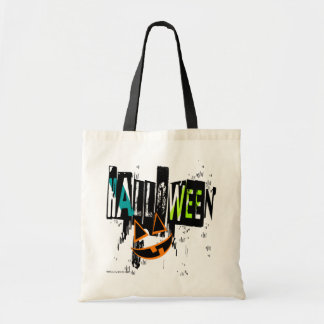 Modern Abstract Halloween Pumpkin Smile Totes