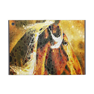 modern abstract horse western country art iPad mini case