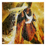 modern abstract horse western country art print