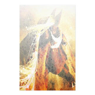 modern abstract horse western country art stationery
