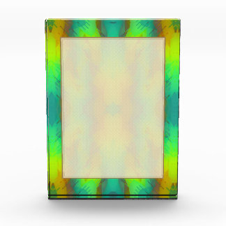 Modern Abstract in Vibrant Green and Yellow Acrylic Award