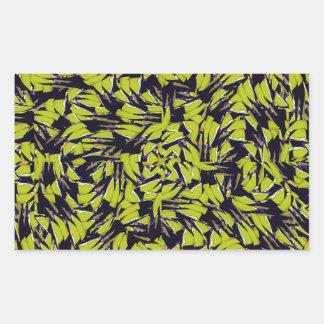 Modern Abstract Interlace Rectangular Sticker