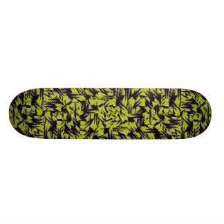 Modern Abstract Interlace Skateboard