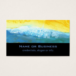 Modern Abstract Landcape Painting Business Card