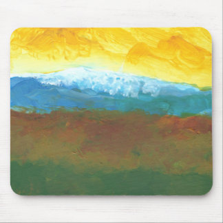 Modern Abstract Landcape Painting Mouse Pad