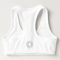Modern Abstract Landscape Sports Bra
