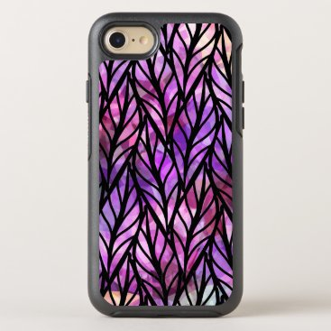Modern Abstract Leaf Colorful Pattern OtterBox Symmetry iPhone 8/7 Case