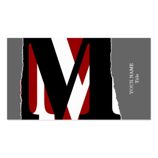 Modern Abstract Monogram Business/Networking Card Business Cards