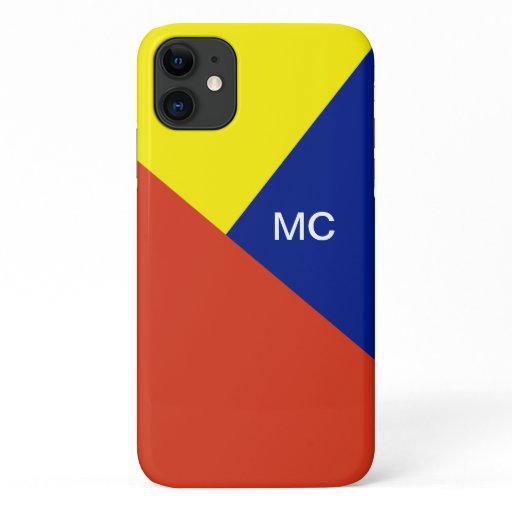 Modern Abstract Monogram Case in Primary Colors