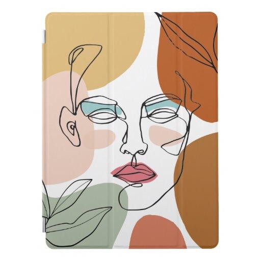 Modern Abstract Monoline Female iPad Pro Cover