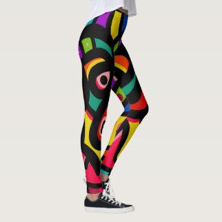 Modern Abstract Multi Color Leggings