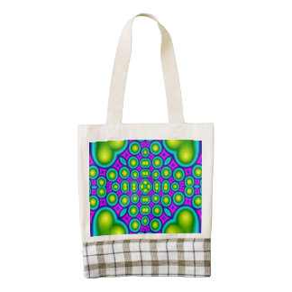Modern abstract multicolored pattern zazzle HEART tote bag