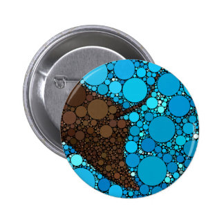 Modern Abstract Ocean Stingray 2 Inch Round Button