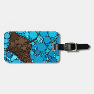 Modern Abstract Ocean Stingray Luggage Tag