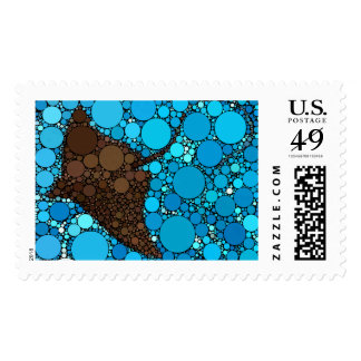 Modern Abstract Ocean Stingray Postage