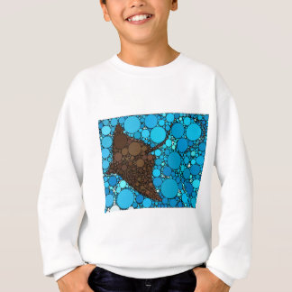 Modern Abstract Ocean Stingray Sweatshirt