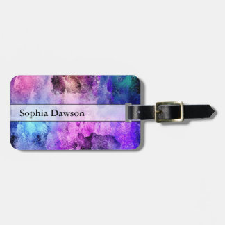 Modern Abstract Paint Splatters Bag Tag