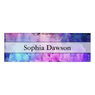Modern Abstract Paint Splatters Name Tag