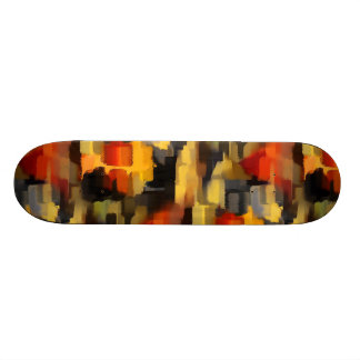 Modern Abstract Paint Squares Skateboard
