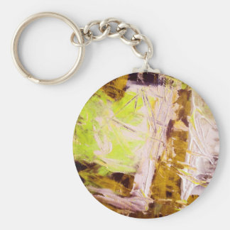 Modern Abstract Painting Art Keychain
