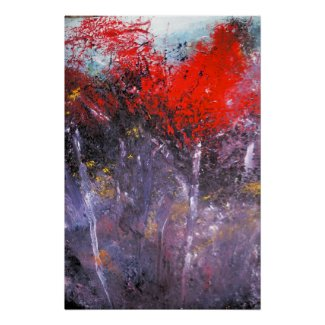 Modern Abstract Painting Art Print