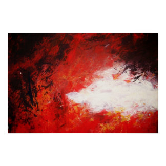 Modern Abstract Painting Art Print Red Creative