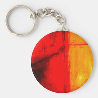 Modern Abstract Painting Keychain