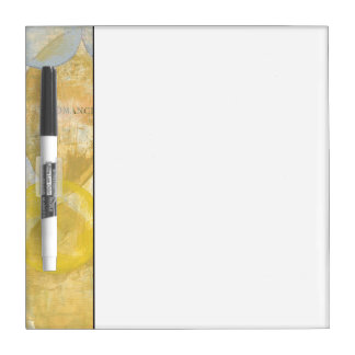 Modern Abstract Painting on Newsprint Dry-Erase Board