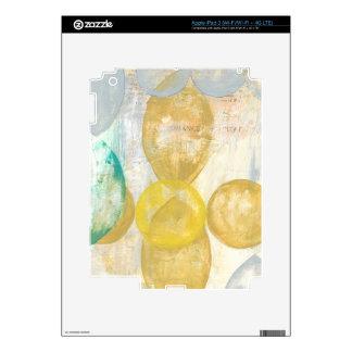 Modern Abstract Painting on Newsprint Skins For iPad 3