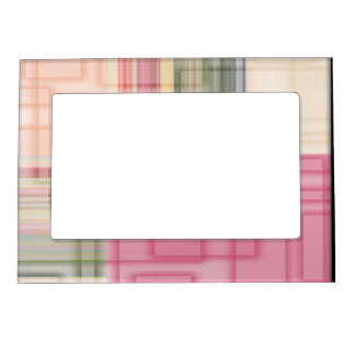 Modern Abstract Pastel Cubes Magnetic Frame