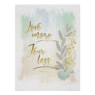 Modern Abstract Pastel Watercolor Calligraphy Poster