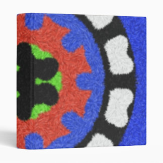 Modern abstract pattern 3 ring binders