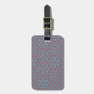 Modern abstract pattern bag tag