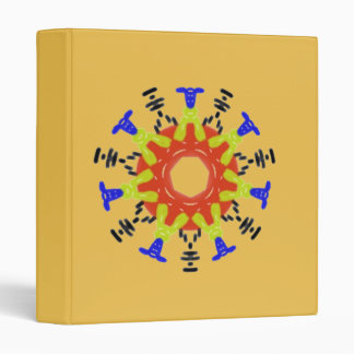 Modern abstract pattern binders