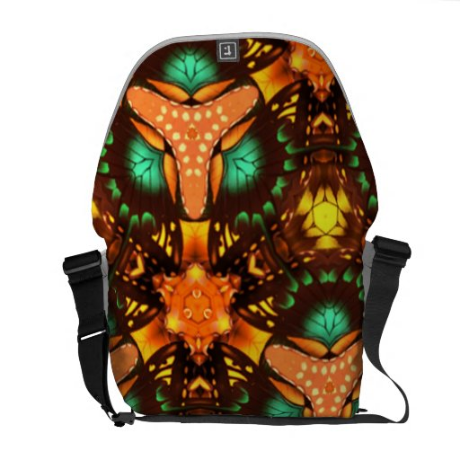 Modern abstract pattern courier bag