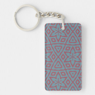 Modern abstract pattern Double-Sided rectangular acrylic keychain