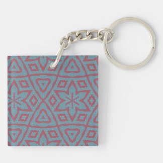 Modern abstract pattern Double-Sided square acrylic keychain