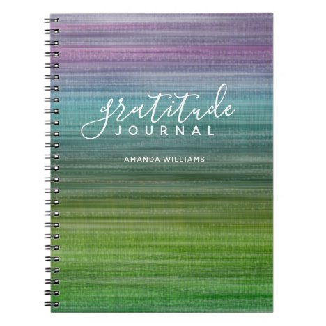 Modern Abstract Pattern Gratitude Journal and Name