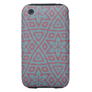 Modern abstract pattern iPhone 3 tough cover