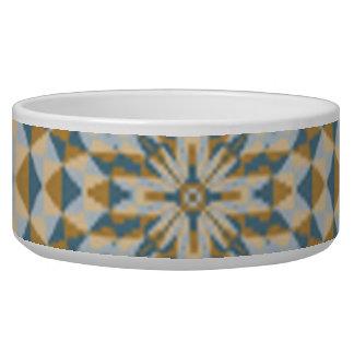 Modern abstract pattern dog bowls