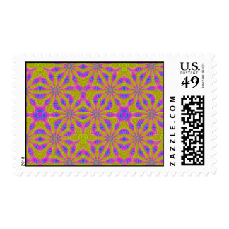 Modern abstract pattern postage