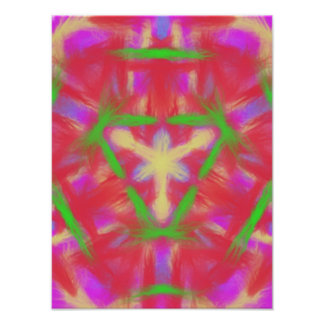 Modern abstract pattern poster