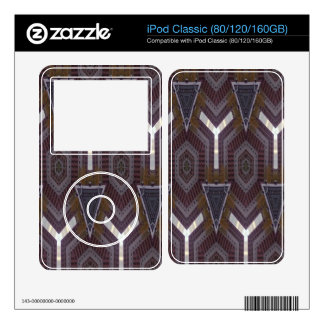 Modern abstract pattern decal for the iPod