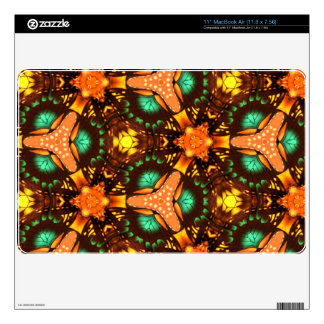 Modern abstract pattern MacBook air decal