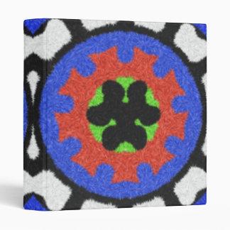 Modern abstract pattern vinyl binders