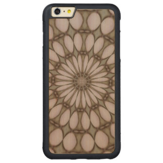 Modern abstract pattern carved® maple iPhone 6 plus bumper