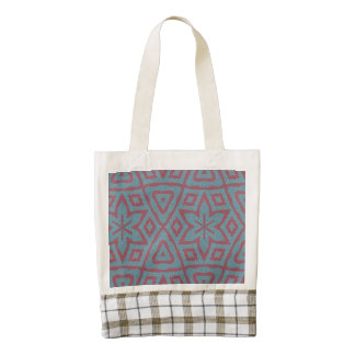 Modern abstract pattern zazzle HEART tote bag